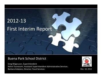 December 10, 2012 - Buena Park School District