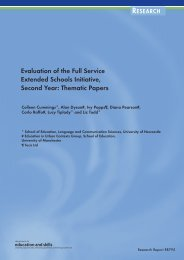 Evaluation of the Full Service Extended Schools Initiative, Second ...