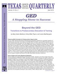 A Stepping Stone to Success - Texas Center for the Advancement of ...