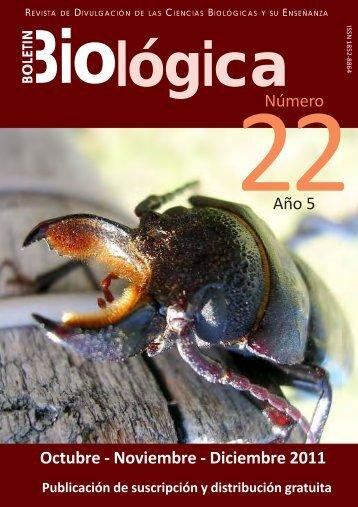 Boletin Biologica21(Tapa).pmd - Boletín Biológica