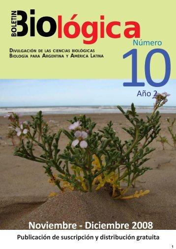 Boletin Biologica 10.pmd - Boletín Biológica