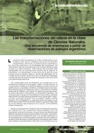 Transformaciones del relieve - Boletín Biológica