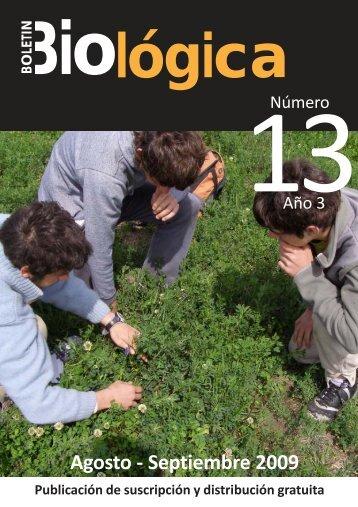 Boletin Biologica 13 (Tapa).pmd - Boletín Biológica