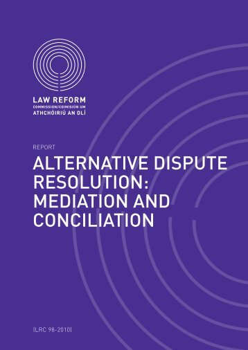 alternative dispute resolution: mediation and conciliation