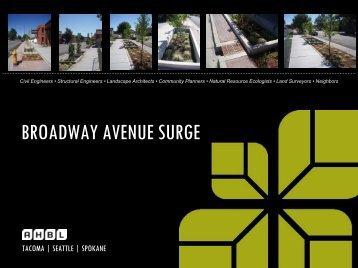 BROADWAY AVENUE SURGE - Spokane Wastewater Management