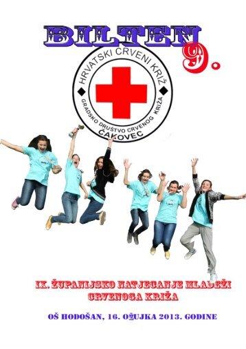 Bilten natjecanja (*.pdf format) - Gradsko društvo Crvenog križa ...