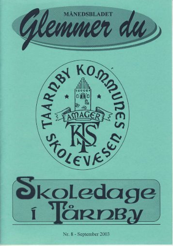 Glemmer du 8/2003 - taarnbybib.net