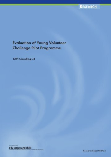 Evaluation of Young Volunteer Challenge Pilot Programme