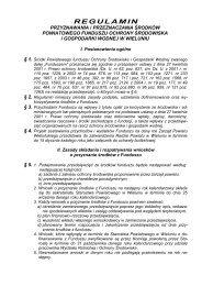 Regulamin Przyznawania i Przeznaczania Środków Powiatowego ...