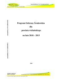 Program Ochrony Środowiska dla powiatu wieluńskiego na lata ...