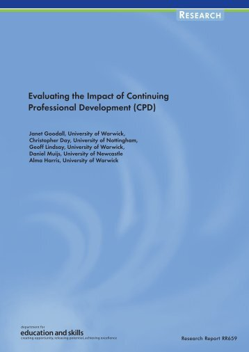 Evaluating the Impact of Continuing Professional Development (CPD)