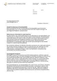2012 Innspill: Evaluering av Kulturløftet - Norsk kulturskoleråd