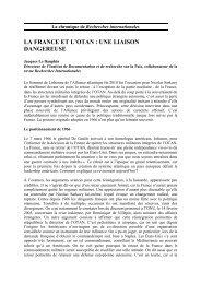 La France et l'Otan - Recherches internationales