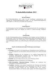 Wohnbeihilferichtlinie 2012_Druckversion_01_12_2011