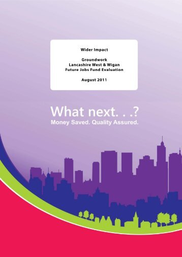 Click here to read the Future Jobs Fund project report - Wider Impact