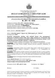 jelgavas reģionālā vides pārvalde - Vides pārraudzības valsts birojs