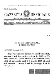 DECRETO 14 maggio 2013 - Ordine Architetti di Milano