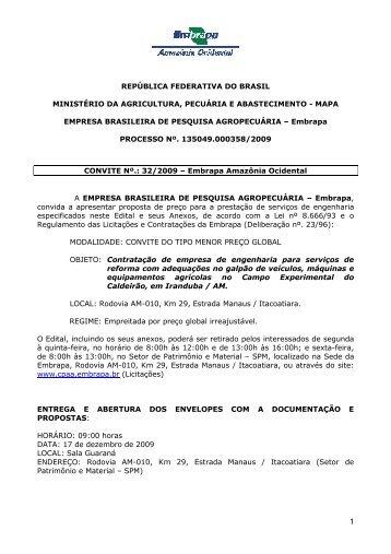 EDITAL 32 2009 CALDEIRÃO.pdf - Embrapa