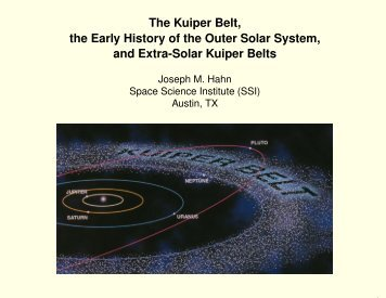 The Kuiper Belt, the Early History of the Outer Solar System, and ...