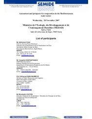 List of participants - emwis