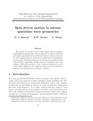 Spin driven motion in intense spacetime wave geometries - doiSerbia