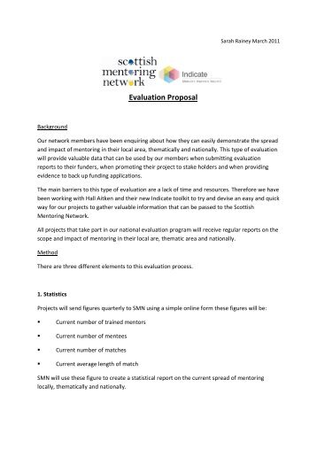 Evaluation Proposal.pdf - Scottish Mentoring Network