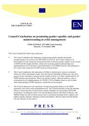 EN Council Conclusions on promoting gender equality and ... - Europa