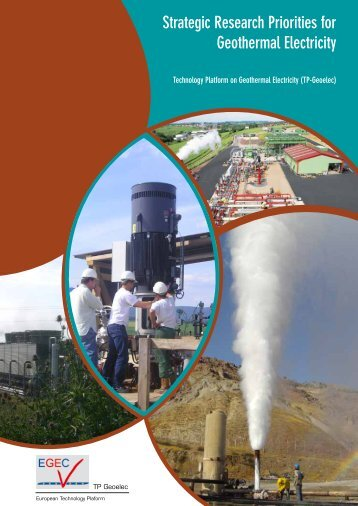 Strategic Research Priorities for Geothermal Electricity - EGEC