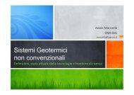 Sistemi Geotermici non convenzionali - Unione Geotermica Italiana