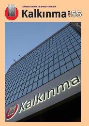 Kalkınma Dergisi 55. Sayı - Türkiye Kalkınma Bankası