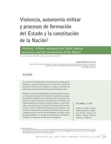 Violencia, autonomía militar y procesos de formación del Estado y la ...