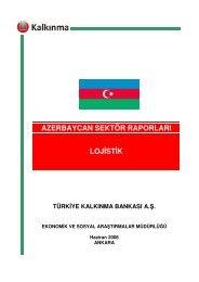 Azerbaycan Lojistik Sektörü - Türkiye Kalkınma Bankası