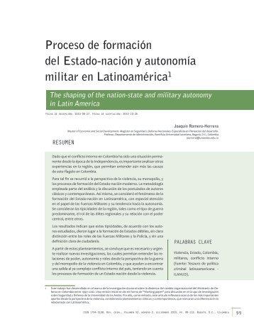 Proceso de formación del Estado-nación y autonomía militar en ...