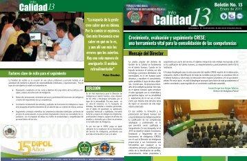 Infocalidad - Policía Nacional de Colombia.