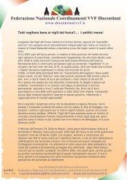 Comunicato Federazione Coordinamenti discontinui - Funzione ...