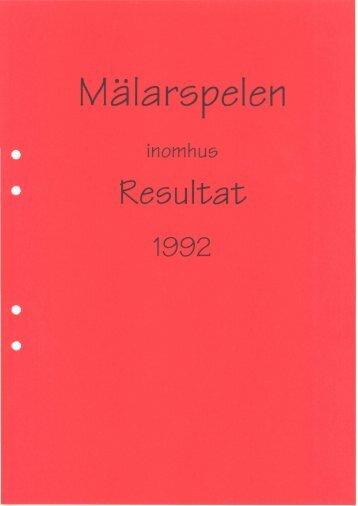 Länk till Mälarspelens lottningsträd med resultat 1992 - Slagproffset