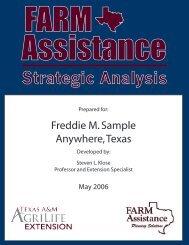 Strategic Analysis - Texas A&M AgriLife