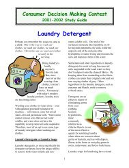 Laundry Detergent - Texas 4-H and Youth Development