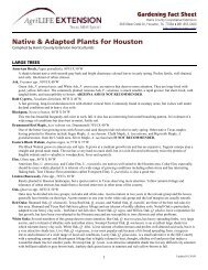 Native & Adapted Plants for Houston - Texas AgriLife Extension ...