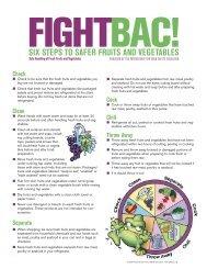 Produce Flyer - Fight Bac