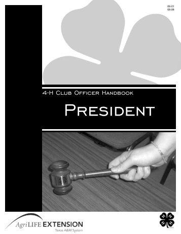 4-H Club Officer Handbook - Pecos County - Texas A&M AgriLife