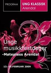 program UNG KLASSISK 2009 - Norsk musikkråd