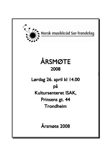 Sakspapir årsmøte - Norsk musikkråd