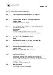Innstilling til vedtak 2010