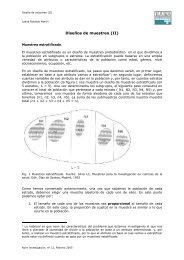 Diseños de muestreo (II)
