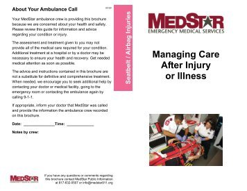 Managing Care After Injury or Illness