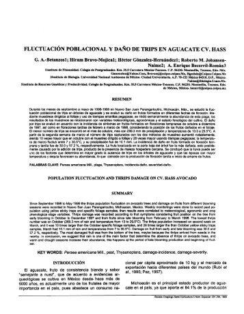 fluctuación poblacional y daño de trips en aguacate cv. hass - Cofupro
