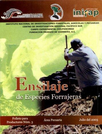 instituto nacional de investigaciones forestales, agrícolas ... - Cofupro