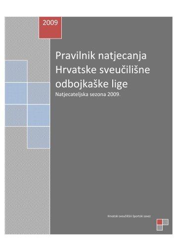 Pravilnik natjecanja Hrvatske sveučilišne odbojkaške lige