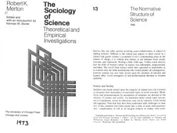 The Normative Structure of Science - About James H. Collier
